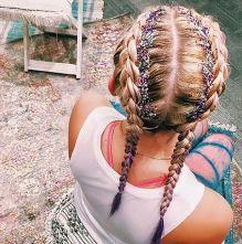 bohofaux, boho, chic, beauty, glitter, braids, mobile beauty, music festivals, brash magazine blog