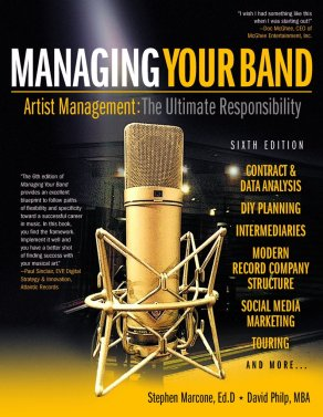 Managing Your Band, David Philp, Stephen Marcone, brash magazine blog, books, music book, artist management, music artists,