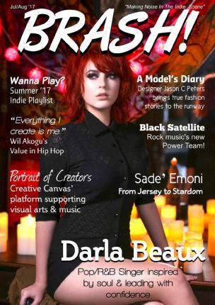 brash magazine, cover reveal, indie music news, music magazine, indie music magazine, darla beaux, entertainment media, magazine, fashion editorials, music interviews