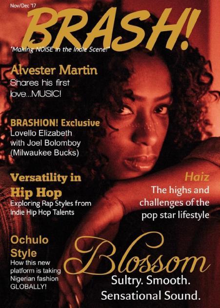 rnb singer, new magazine issue, magazine issue, entertainment media, brash magazine, indie music news, fashion, blossom, cover artist, hot 16, tease, new entertainment, fashion articles