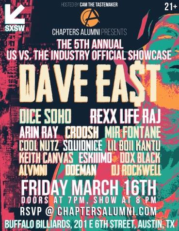 sxsw, cool nutz, portland artist, hip hop news, hip hop artist, dave east, us vs. the industry official showcase, rap artist