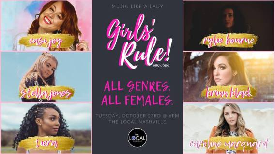 Girls Rule! Oct 23 Showcase - BRASH! Magazine Blog