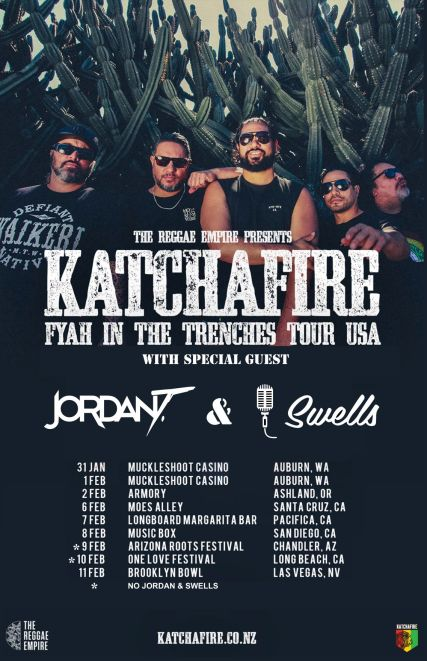 katchafire trenches tour poster