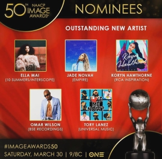 NAACP Image Awards Nominees for Outstanding New Artist