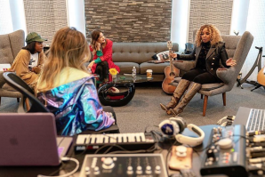 Ali Stone and Mary J. Blige with Audient iD44