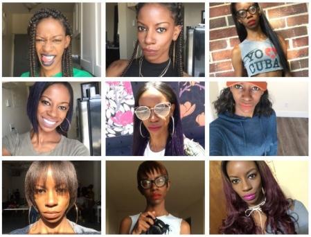 E. Alexcina Brown, The Blakk Dahlia lipstick selfies