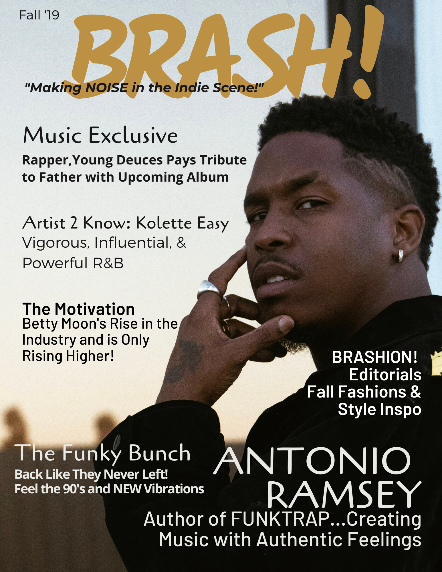Fall 19 BRASH! Magazine ft. Antonio Ramsey