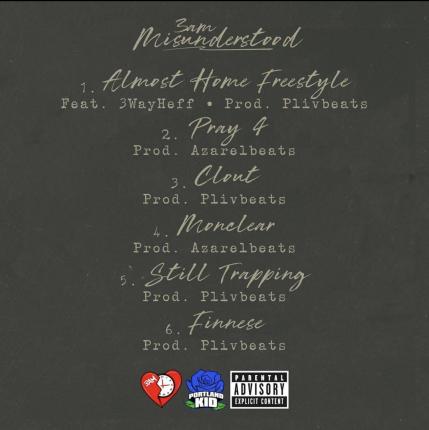 Misunderstood EP by 3AM track listing